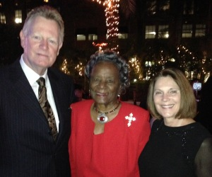 Mr. & Mrs. Chip Withers with Mrs. Thelma Gibson